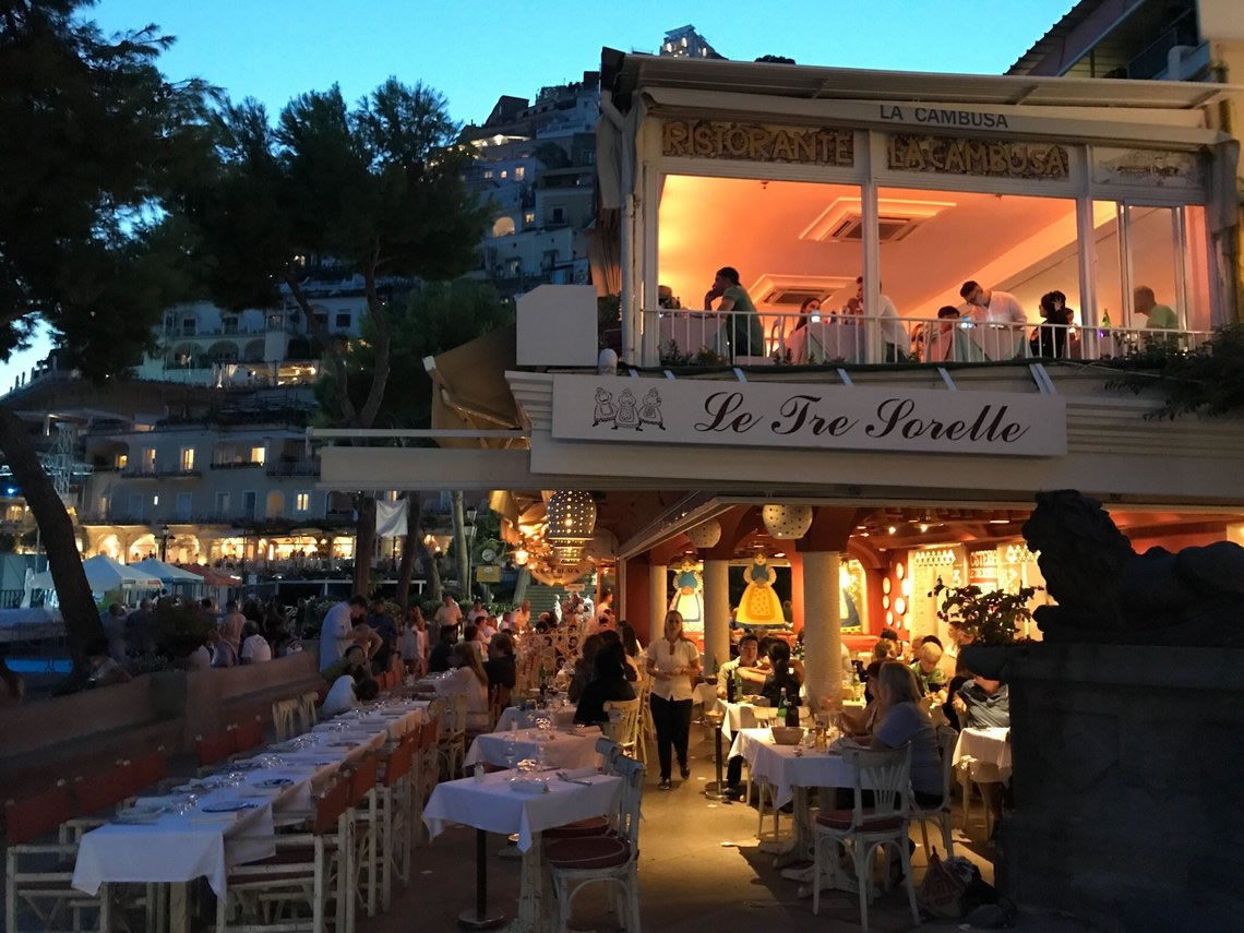Restaurant in Positano Typical Cuisine